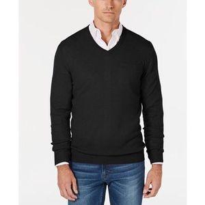 Club Room Cashmere V-Neck Black Sweater